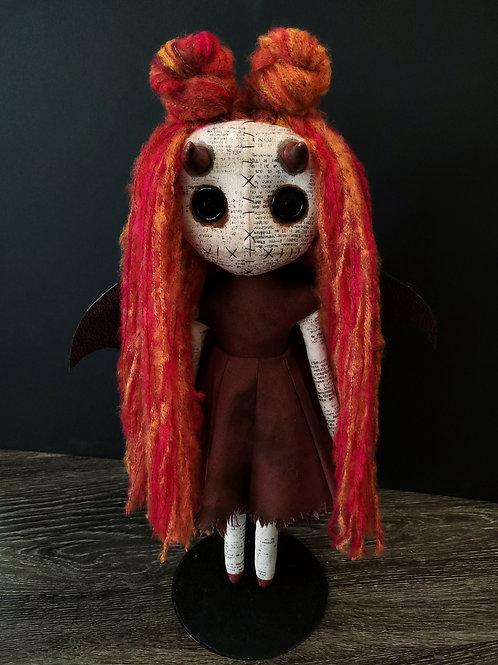 "18"" Handmade Demon Doll with Horns"