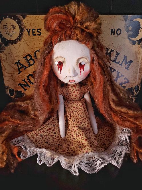 """13"""" Handmade Mini Moody Nail Doll"""