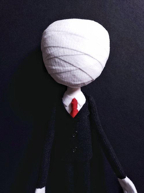 "24"" Handmade Slenderman Doll"