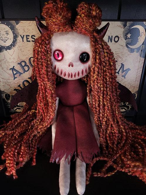 "18"" Handmade Winged Demon Doll (Red and Black Eye)"