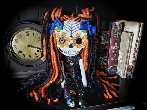 """16"""" Handmade Sugar Skull Doll"""