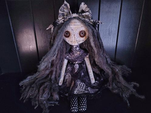 "18"" Handmade Moody Grungy Doll"