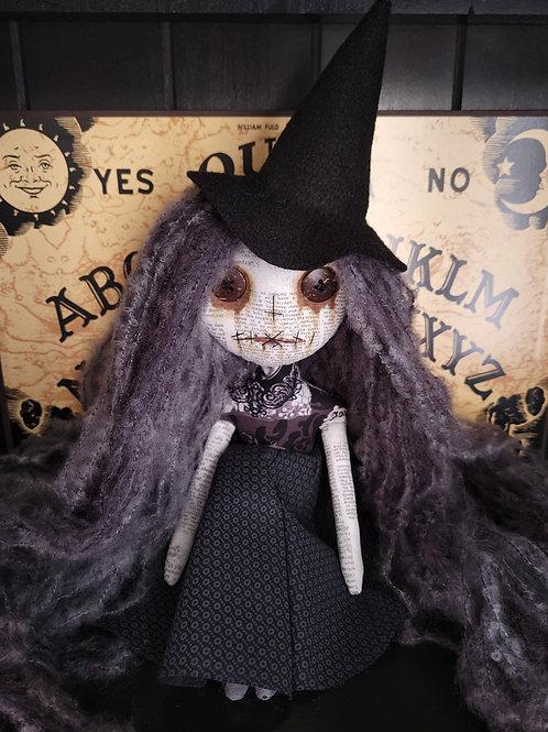 "13"" Handmade Mini Moody Witch Doll"