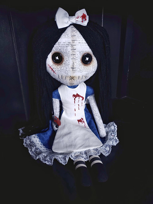 """PRE-ORDER 18"""" Handmade Alice Doll with Knife"""