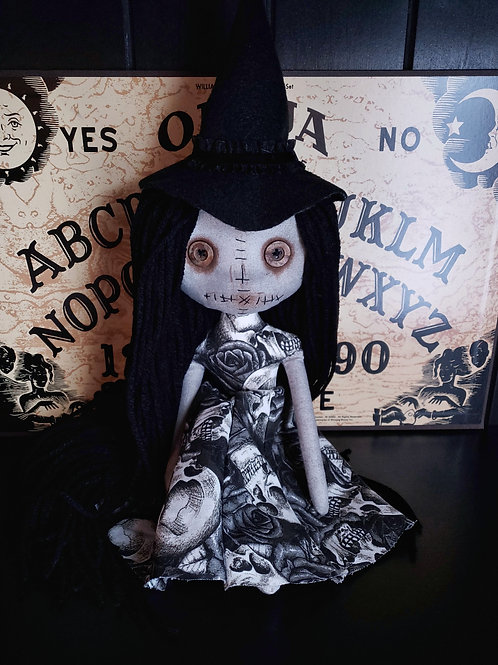 "13"" Handmade Mini Moody Witch"
