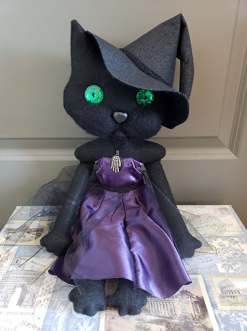 "19.5"" Handmade Witch Cat Doll"
