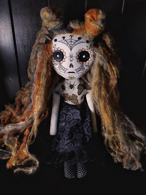 "18"" Handmade Sugar Skull (With Butterflies)"