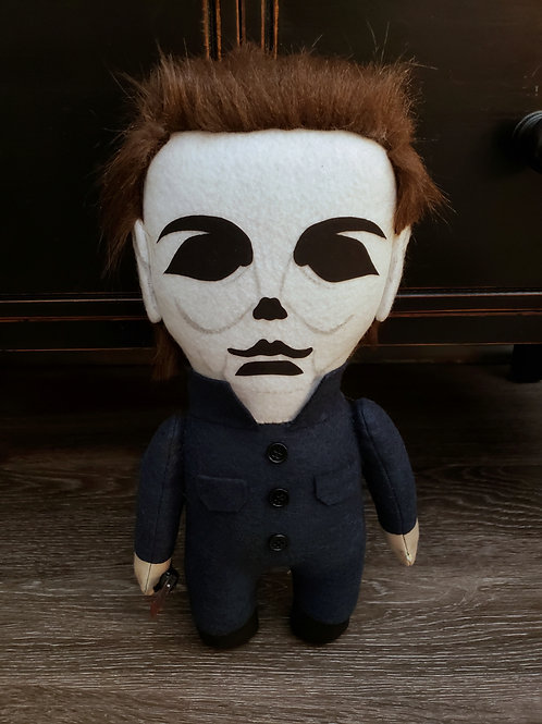 """14"""" Handmade Michael Myers-Inspired Doll with Knife"""