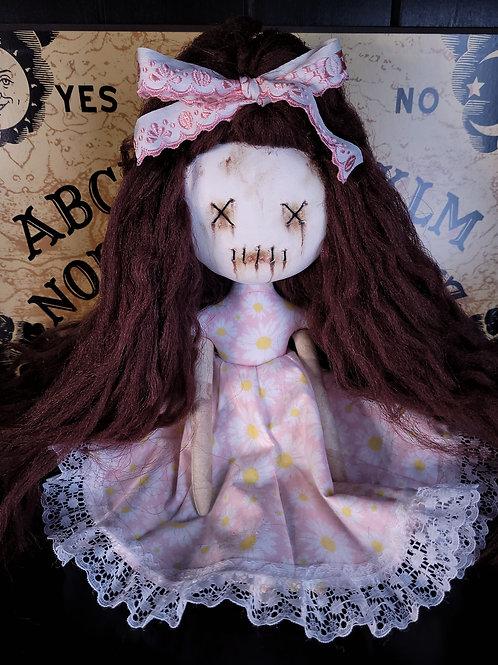 """13"""" Handmade Clay-Face Mini Moody Doll"""
