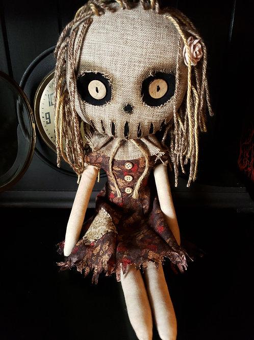 "16"" Handmade Creepy Scarecrow Doll"