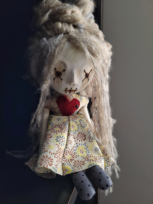 "18"" Handmade Clay-face Voodoo Doll"