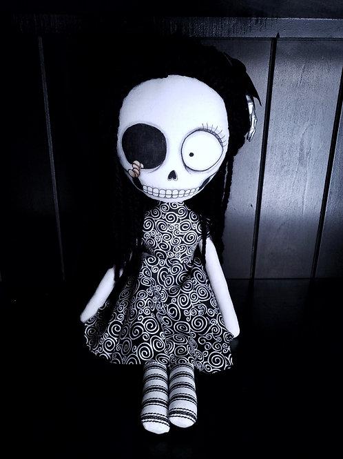 """18"""" Handmade Worm-Skull Doll"""