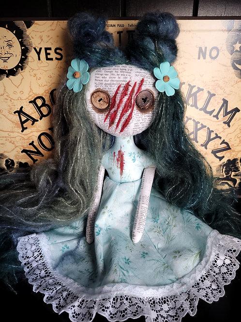 """13"""" Handmade Slashed-face Mini Moody Doll"""