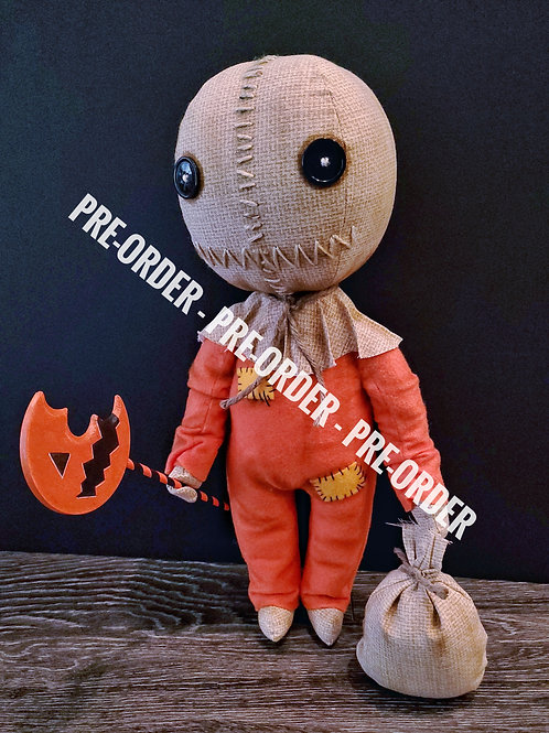 """PRE-ORDER - 18"""" Handmade Sam Doll with Lollipop and Bag (Please Read)"""
