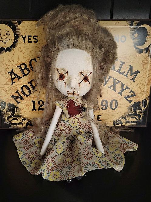 "13"" Handmade Mini Clay-face Voodoo Doll (Two X Eyes)"