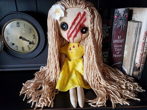 "16"" Handmade Slashed-face Doll"