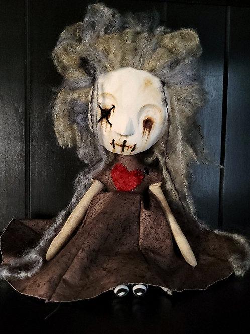 """13"""" Handmade Mini Moody Clay-face Voodoo Doll"""