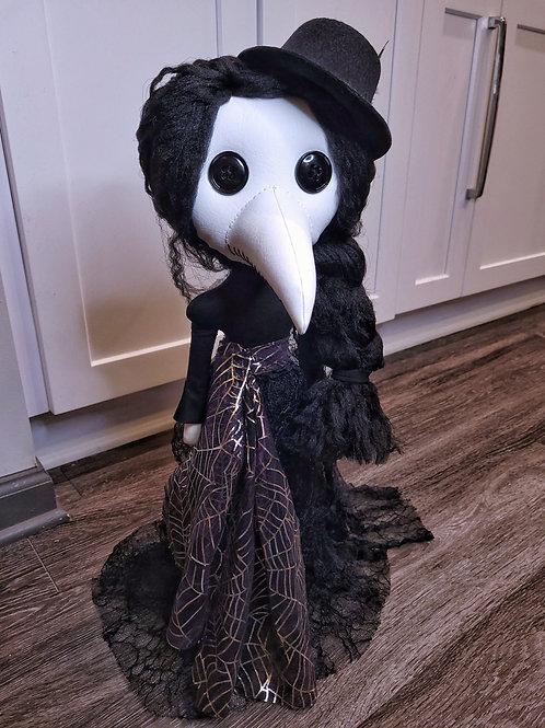 "22"" Handmade Free-standing Plague Doctor Doll"