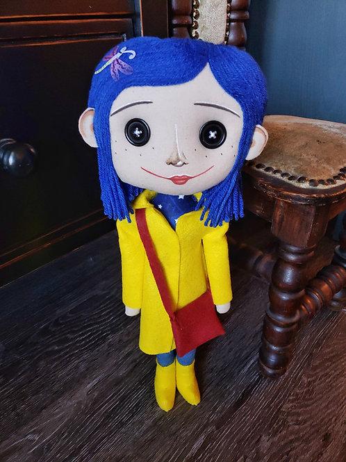 "17"" Handmade Coraline-Inspired Doll"