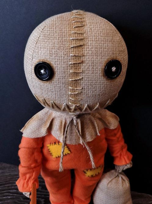 "18"" Handmade Sam Doll with Lollipop and Bag"