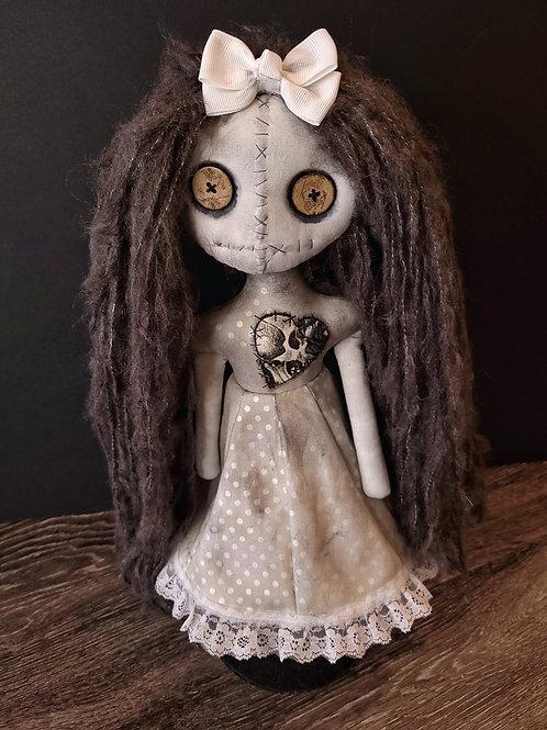 "18"" Handmade Moody Grungy Doll (Dark Hair)"