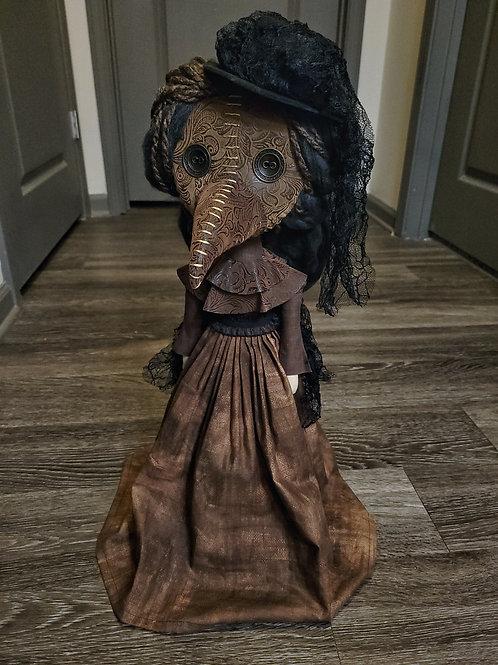 """22"""" Handmade Free-standing Plague Doctor (Brown Skirt)"""