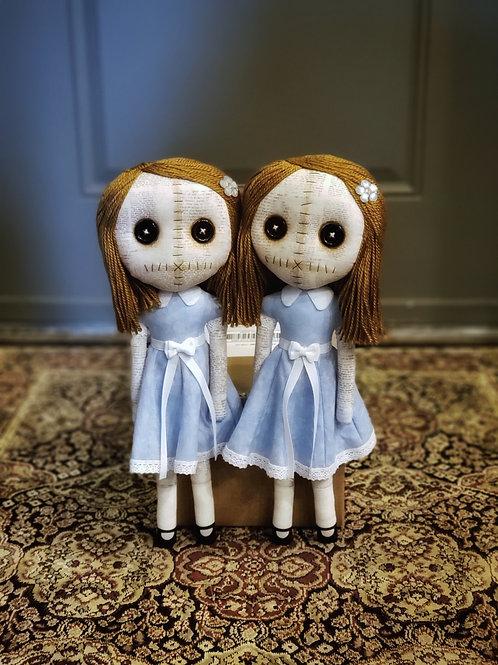 "17"" Handmade Grady Twins Dolls"
