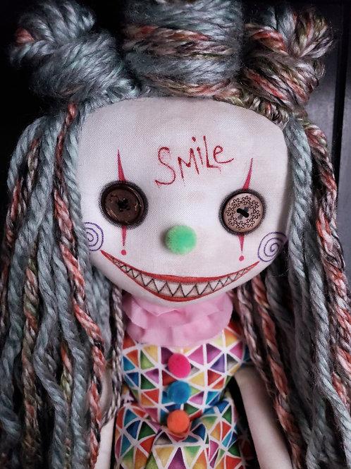 """18"""" Handmade Chatter Clown Doll """"Smile"""""""