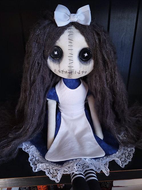 "18"" Handmade Grungy Alice Doll"