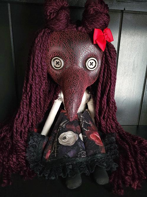 """18"""" Handmade Plague Doctor Doll - Bow"""