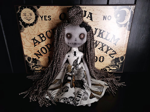 "13"" Handmade Mini Moody Doll"