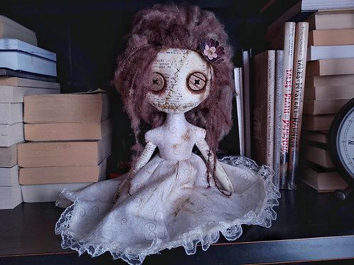 "13"" Handmade Mini Moody Doll (Brown Hair)"