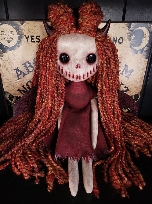 "18"" Handmade Winged Demon Doll (Black Eyes)"