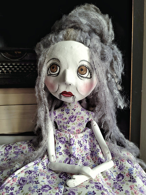 "18"" Handmade Vantriliquest Art Doll ""Gwen"""