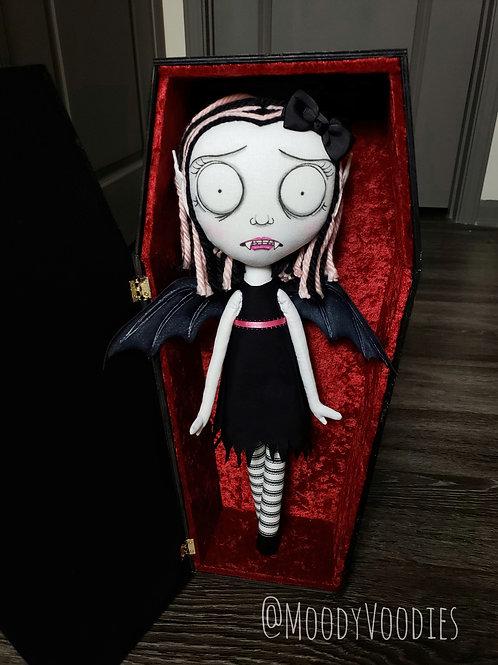 """18"""" Handmade Vampire Doll """"Ruby"""""""