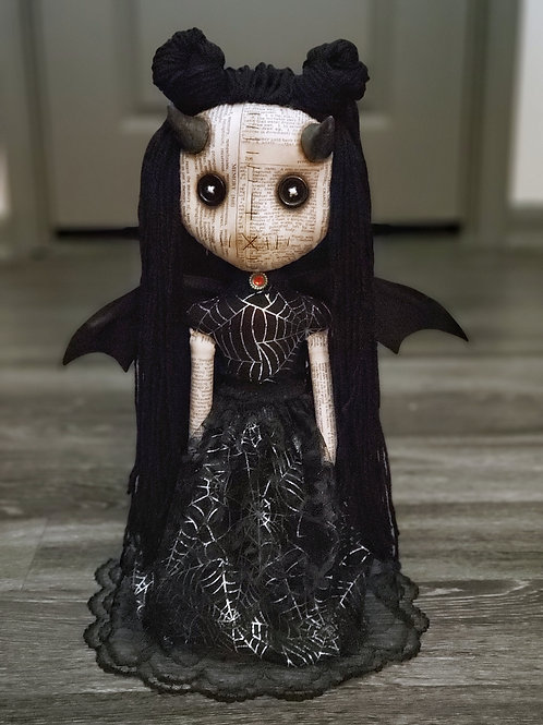 "18"" Handmade Winged Demon Doll"