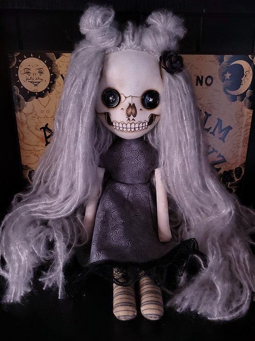 """18"""" Handmade Skull-faced Doll"""