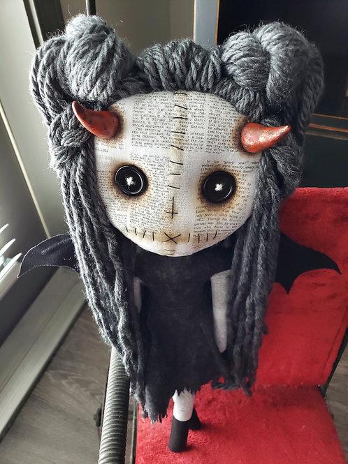 "16"" Handmade Winged Demon Doll"