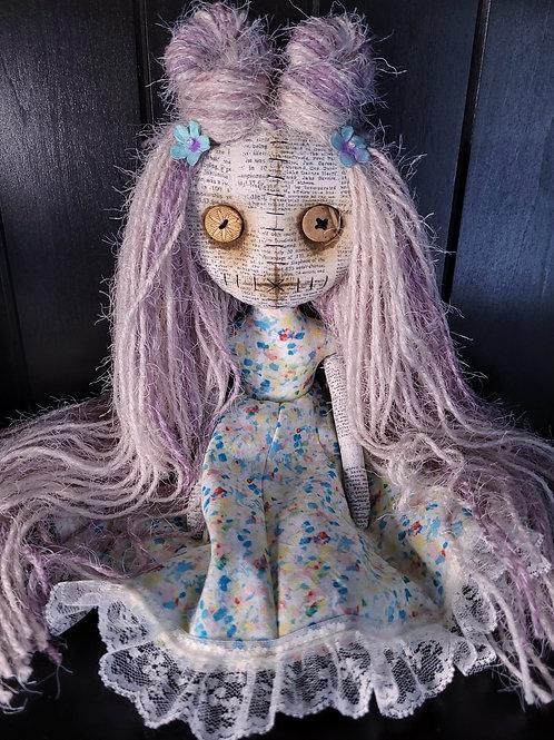 "13"" Handmade Mini Moody Doll - Pink"