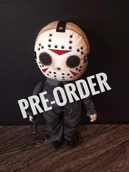 "PRE-ORDER 18"" Handmade Jason Doll"