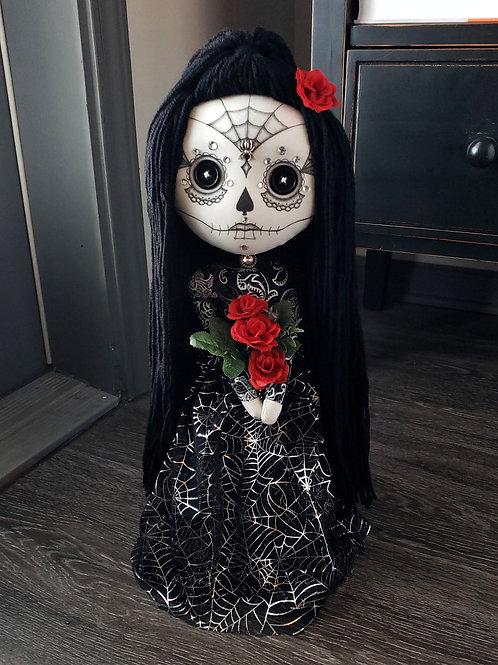 """18.5"""" Handmade Sugar Skull Doll"""