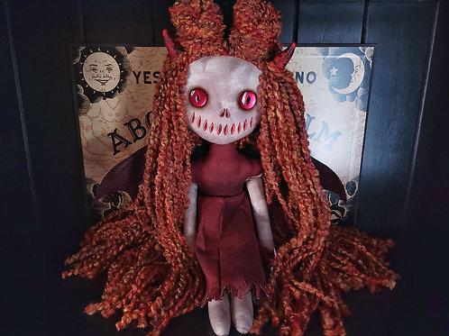 "18"" Handmade Winged Demon Doll"