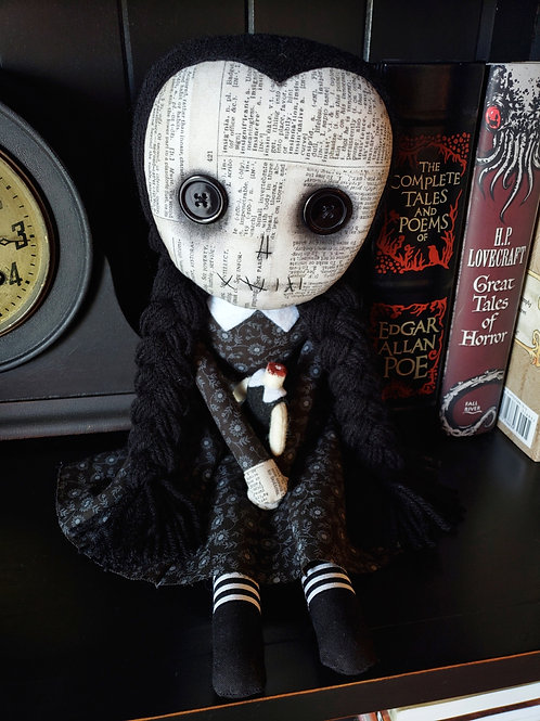 "16"" Handmade Wednesday Doll"
