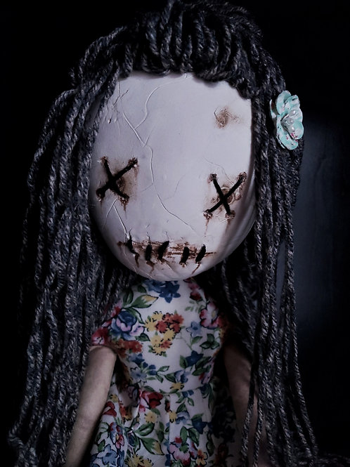 "18"" Handmade Clay-Face Doll"