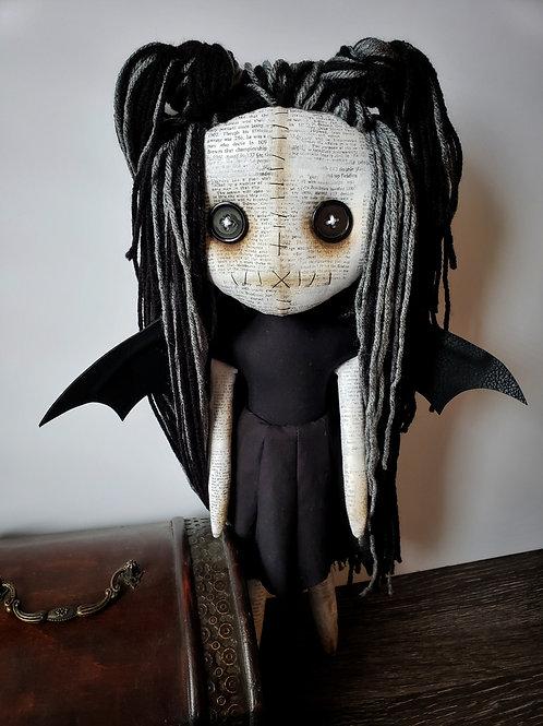 "16"" Handmade Bat-Winged Doll"