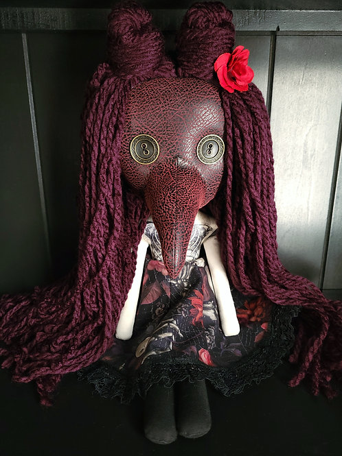 "18"" Handmade Plague Doctor Doll - Rose"