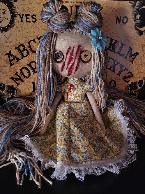 """13"""" Handmade Mini Moody Slashed-face Doll"""