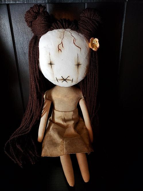 """16"""" Handmade Clay-Face Doll"""