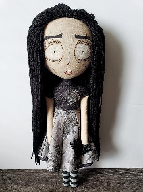 "18"" Handmade Tim Burton-inspired Doll"