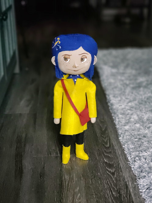 "16"" Handmade Coraline-Inspired Art Doll"